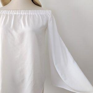 White off-shoulder top
